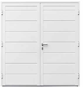 двухстворчатая боковая дверь гаражных ворот